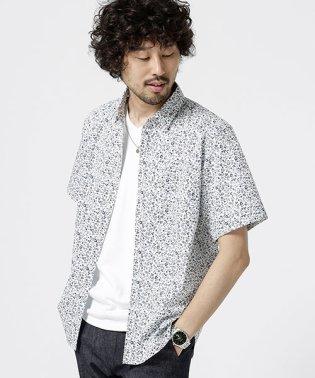 小花柄ショートカラーシャツS/S