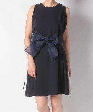 サイド配色サッシュリボン付きドレス