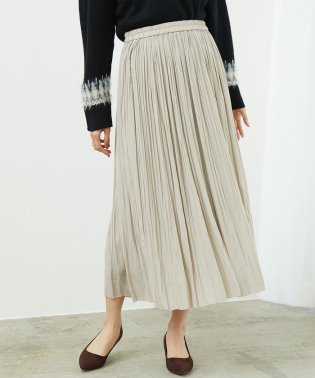 【松岡茉優さん着用アイテム】シャイニープリーツロングスカート