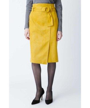 ◆フェイクスエードリングベルトスカート