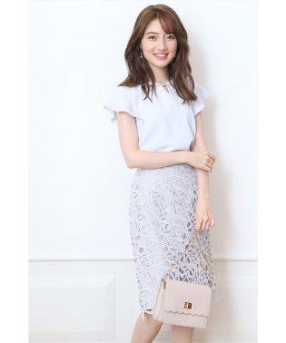 【美人百花9月号掲載】クラシックレースタイトスカート