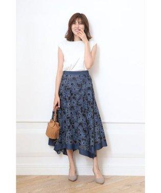 刺繍レースアシメスカート