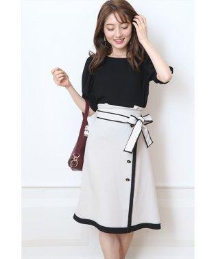 配色Aラインスカート