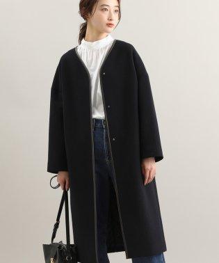 【WEB限定】二重織りメルトンパイピングコクーンコート