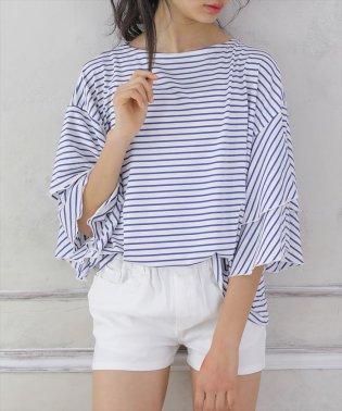 ティアード七分袖Tシャツ
