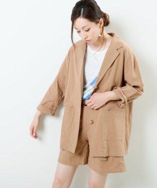 綿麻風オーバーサイズジャケット
