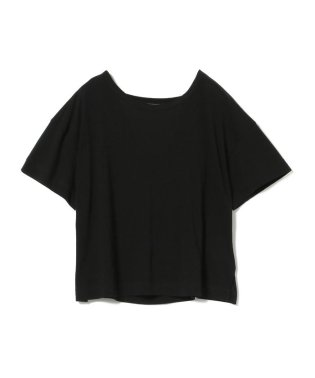 Ray BEAMS / バック オープン ドレープ Tシャツ