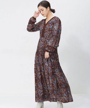 NE QUITTEZ PAS/別注COTTON ETHNIC PRINT DRESS