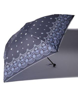 グラデーションスカラップ柄軽量折りたたみ傘