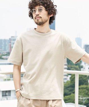 シャイニーリップルドロップショルダーTシャツ
