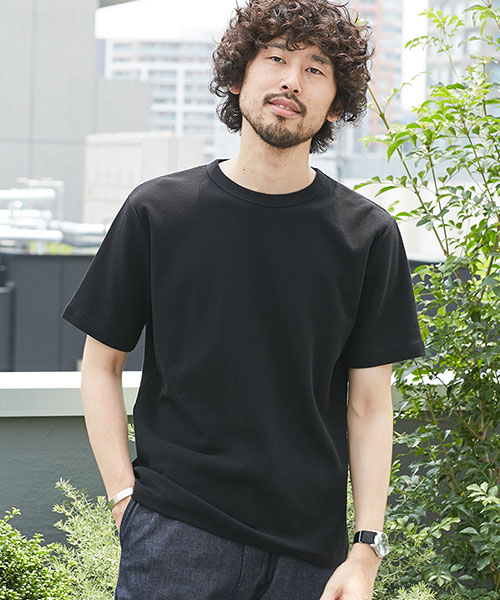二重編みミニワッフルTシャツ半袖