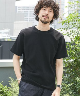 【WEB限定】二重編みミニワッフルTシャツ半袖