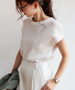 ワッフルフレンチスリーブ半袖Tシャツ