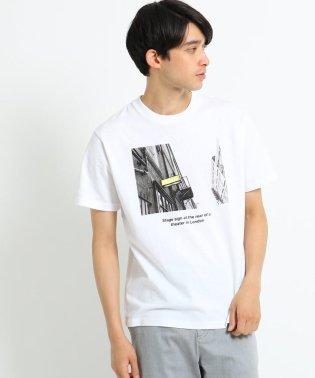 プリント×カラー刺しゅうTシャツ