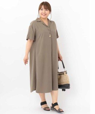 【a.v.v×eur3】【大きいサイズ】フロントタックシャツワンピース