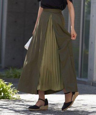 ツイル×プリーツスカート