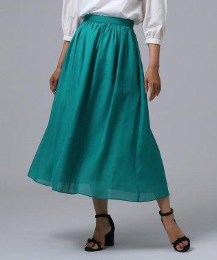【洗える】ギャザーマキシスカート