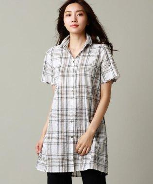【ウォッシャブル】Deveauxチェックロングシャツ