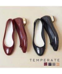 TEMPERATE BESS ラウンドトゥ2.5cmヒールバレエ レインシューズ