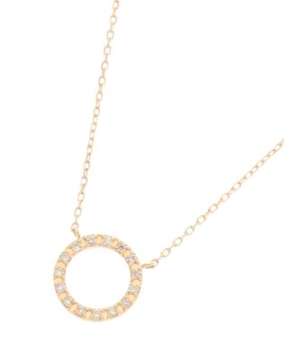 K18ダイヤモンド サークル ネックレス(小)