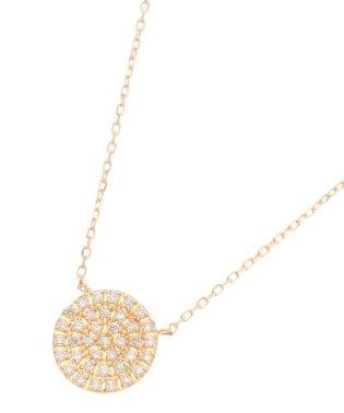 K18ダイヤモンド ラウンドパヴェ ネックレス(大)