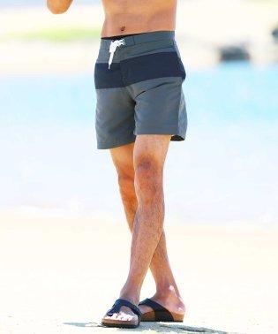 切り替えスイムショーツ / 水着 ハーフパンツ メンズ ショートパンツ 短パン 膝上 水陸両用 スイムパンツ 海水パンツ