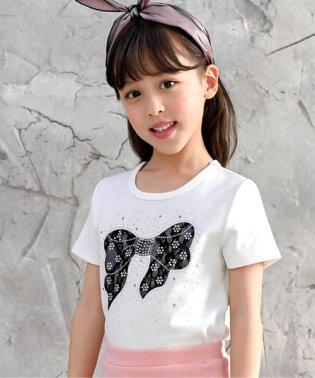 レースリボンTシャツ