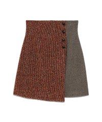 ツイードチェック台形スカート