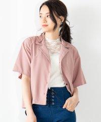 WEGO/オープンカラークロップドシャツ