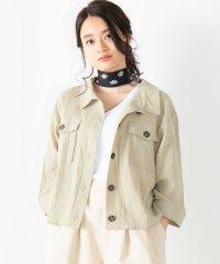 WEGO/楊柳クロップド8分袖シャツ