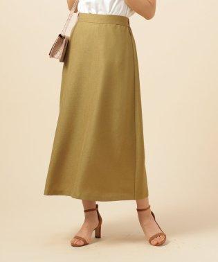麻調ブッチャーAラインロングスカート