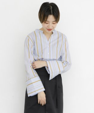 【KBF】オーバータックストライプシャツ