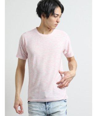 コールドタッチスラブリップル クルーネック半袖Tシャツ