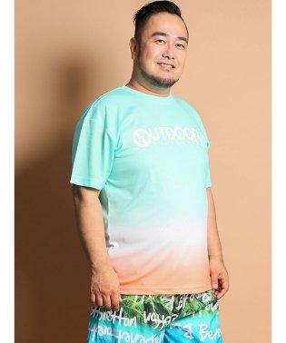 【大きいサイズ】アウトドアプロダクツ/OUTDOOR PRODUCTS DRYメッシュグラデーション クルーネック半袖Tシャツ