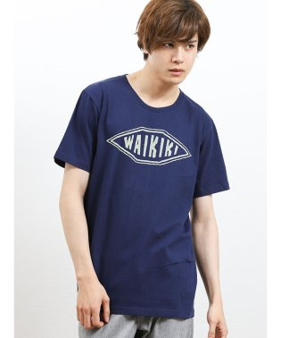 アミナ/AMINA HAWAII クルーネック半袖Tシャツ