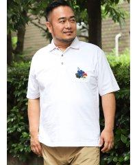 【大きいサイズ】カステルバジャック/CASTELBAJAC 天竺手差し風刺繍半袖ポロ