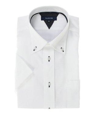 形態安定レギュラーフィットボタンダウン半袖シャツ