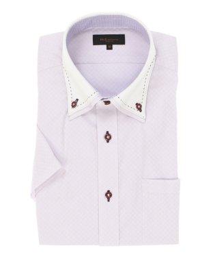 形態安定スリムフィット 2枚衿ドゥエダブルステッチ半袖シャツ