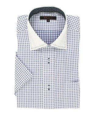 形態安定レギュラーフィット ワイドカラーハンドステッチ半袖シャツ