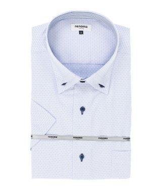 【大きいサイズ】レノマオム/renoma HOMME アイスカプセル形態安定3枚衿ボタンダウン半袖シャツ