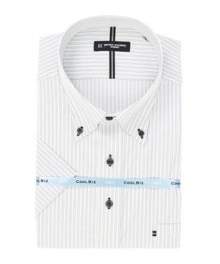 【大きいサイズ】HIROKO KOSHINO HOMME ハイブリットセンサーボタンダウン半袖シャツ