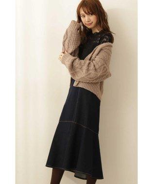 |美人百花 10月号掲載|◆マーメイドミモレデニムスカート