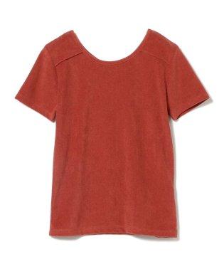 Ray BEAMS / パイル バック リボン Tシャツ