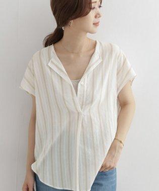ストライプコクーンシャツ