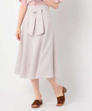 [新色追加]麻調合繊ミディ丈スカート