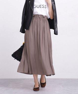 【WEB限定】前後2Wayヴィンテージサテンギャザースカート