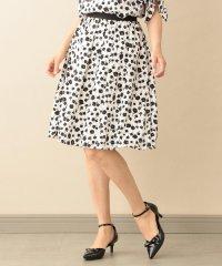 【ウォッシャブル】プチフラワーサテンスカート