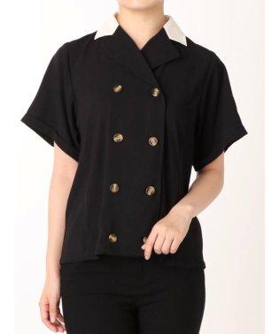 ダブルボタンシャツ