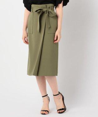 リボン付きラップ風スカート