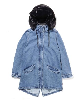 FISHTAIL DENIM PARKA 5.1 MEDIUM WASHED D
